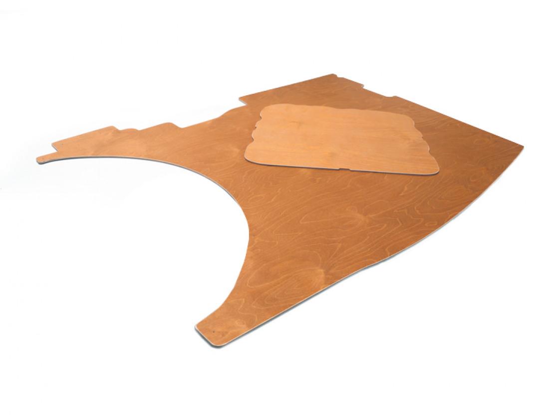 Zijwanden hechthout bruin