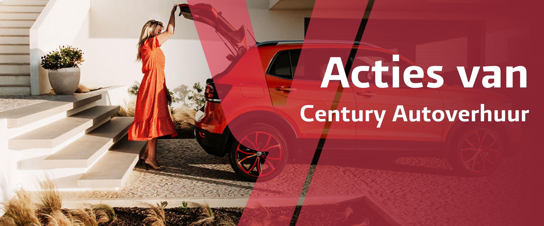 Century Autoverhuur acties banner